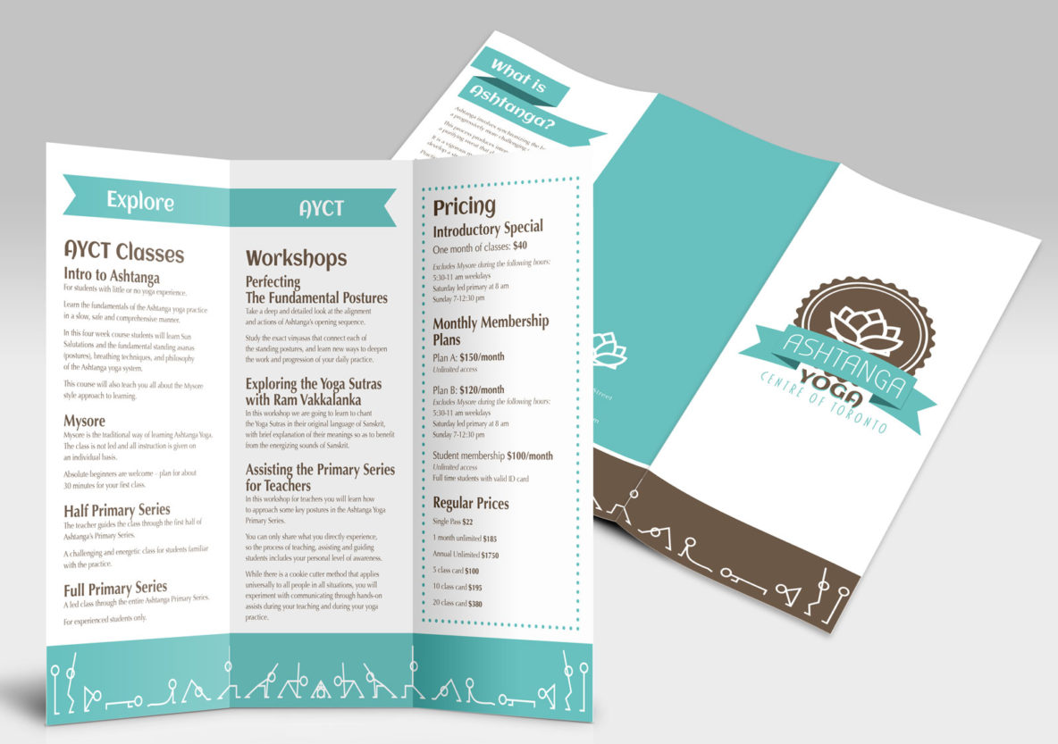 Ashtanga Yoga Brochure Concept