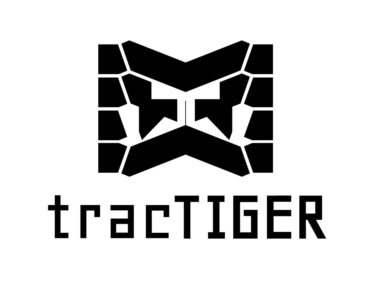 tracTIGER Logo Concept - Black on White