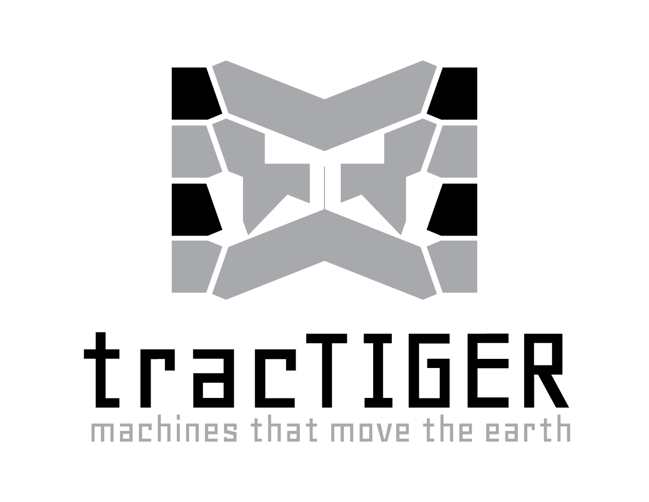 tracTIGER Logo Concept - Two Tone with Tagline