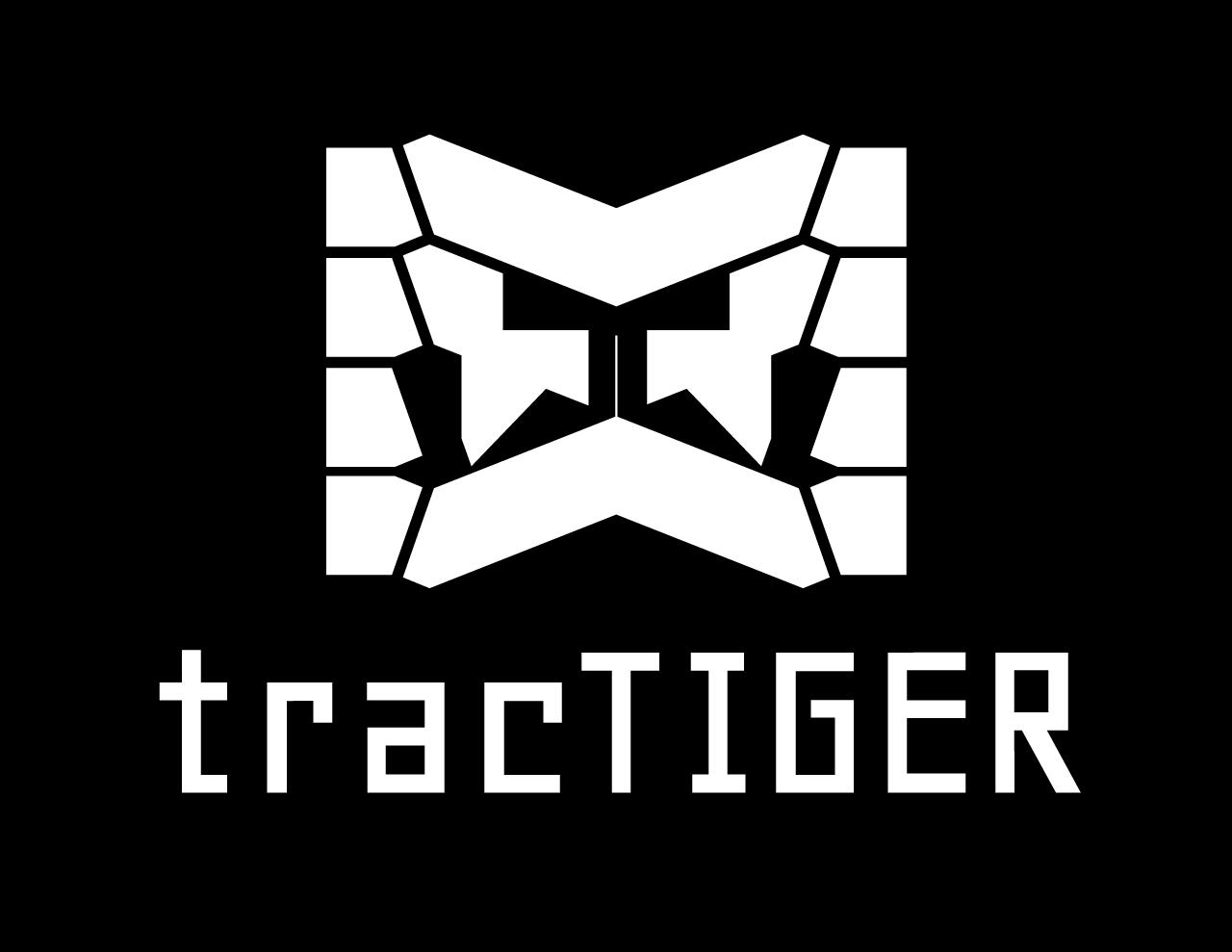 tracTIGER Logo Concept - White on Black