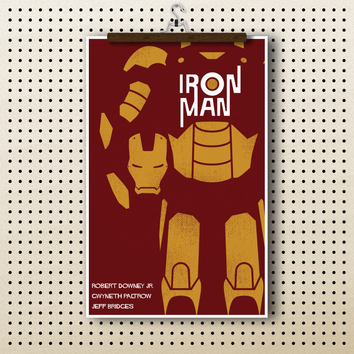 Iron Man Poster, inspired by Saul Bass